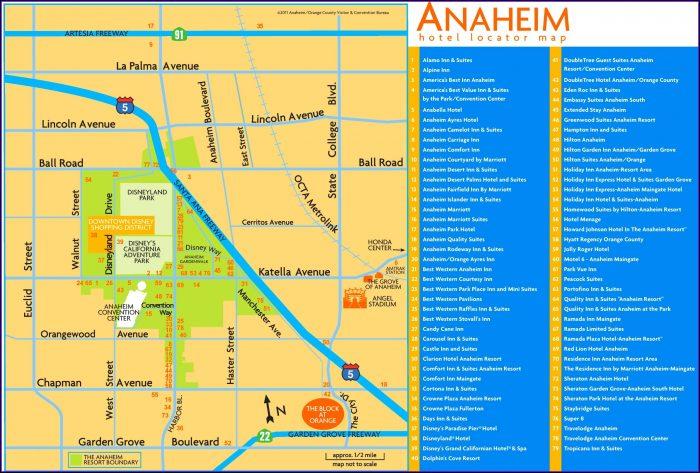 Anaheim Hotel Map