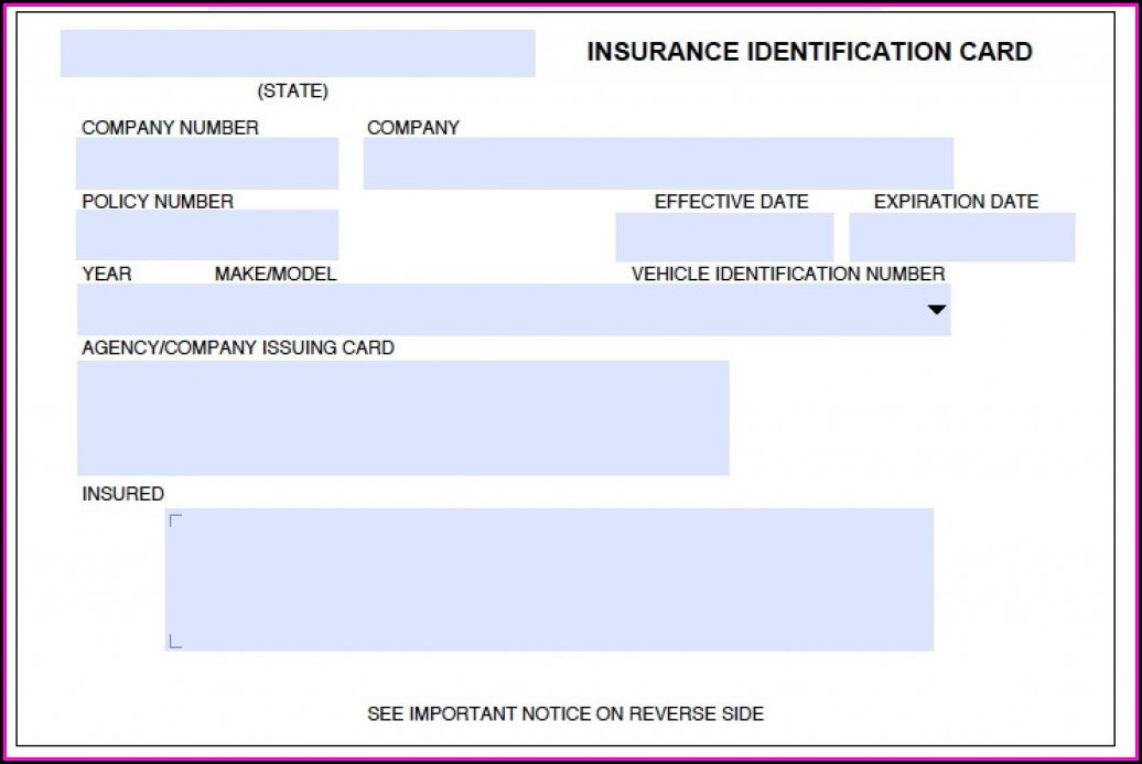 Auto Insurance Id Card Template Template 2 Resume Examples
