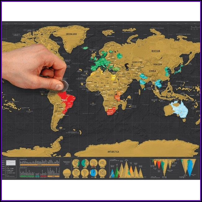 Black Scratch Off Travel World Map