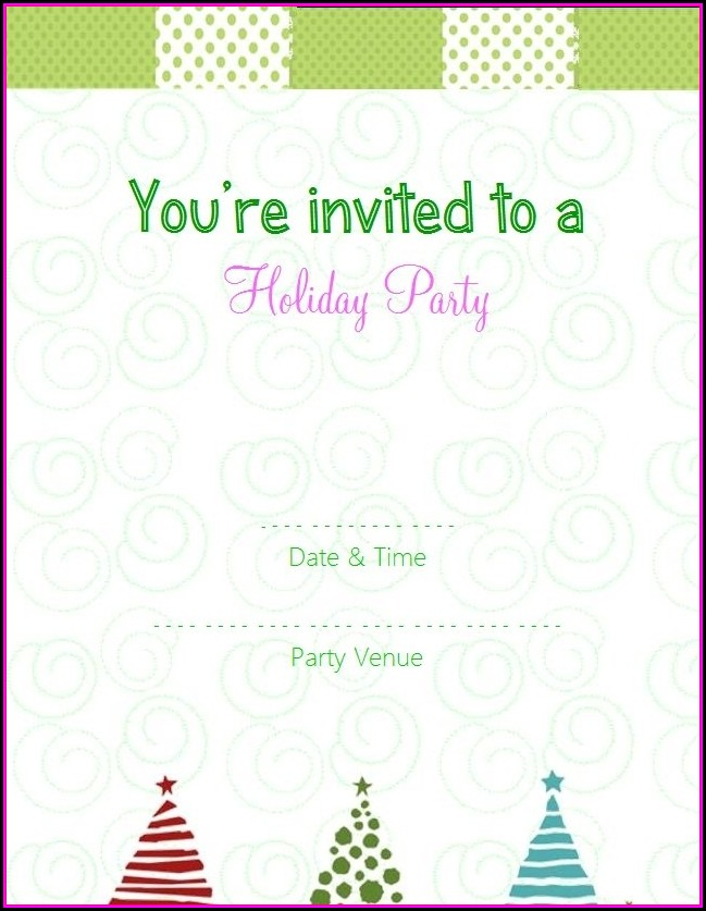 Blank Holiday Invitation Template