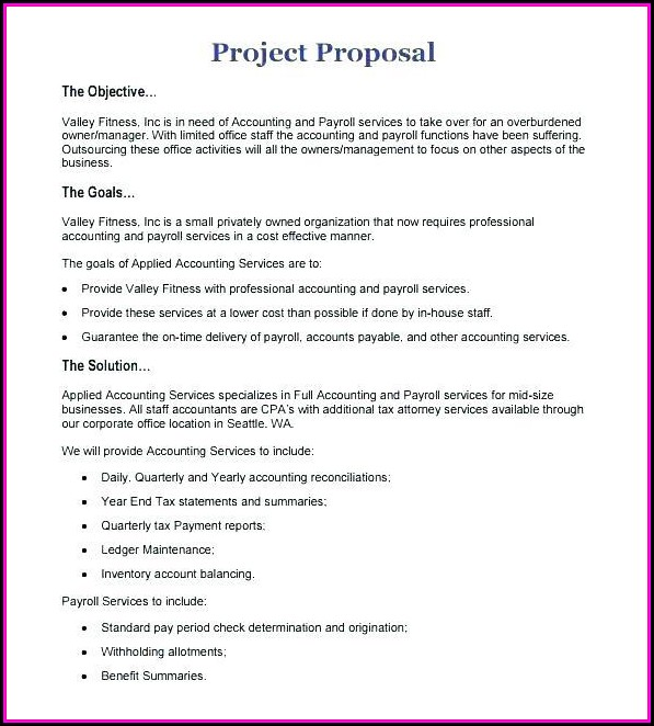 Bookkeeping Business Proposal Template