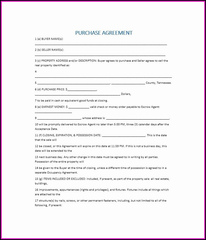 Buy Sell Agreement Template California Template 2 Resume