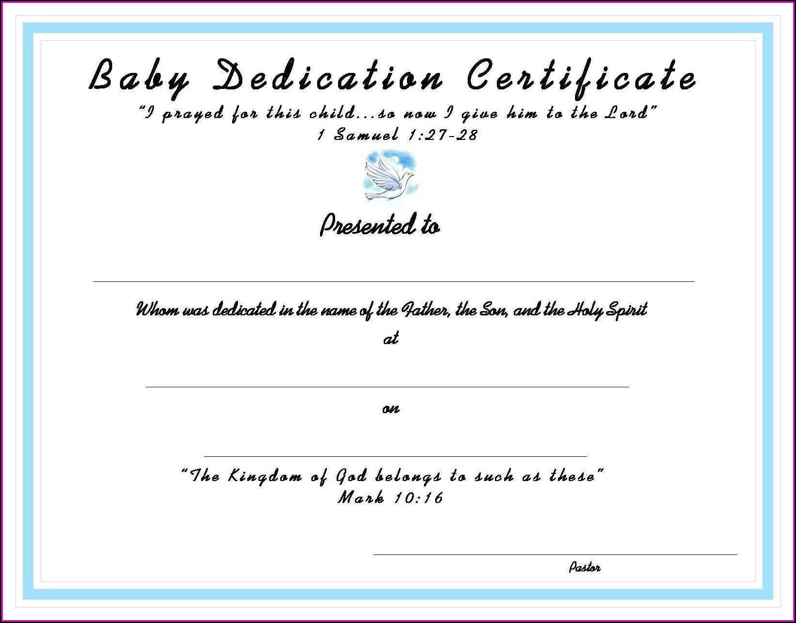 Catholic Baptism Certificate Template Word