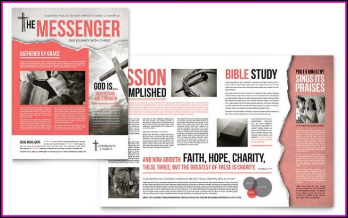Church E Newsletter Templates