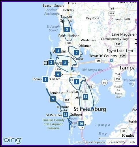 Clearwater Beach Hotels Beachfront Map