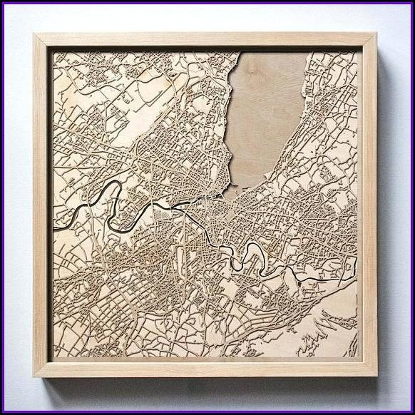 Custom Laser Cut Wood Maps