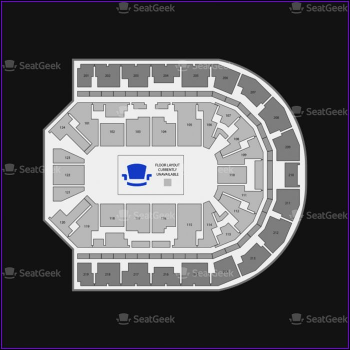Denny Sanford Premier Center Interactive Seating Chart