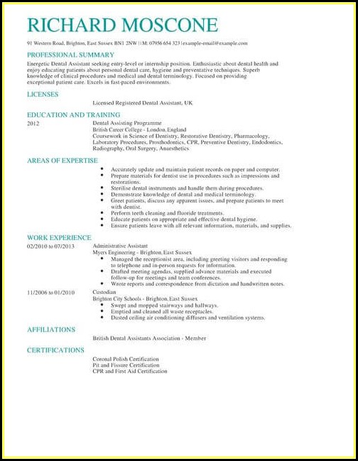 Dental Cv Template Uk Resume Resume Examples RE34Lbe36x