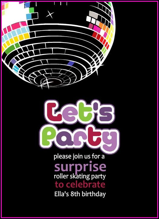 Disco Party Invites Templates Free