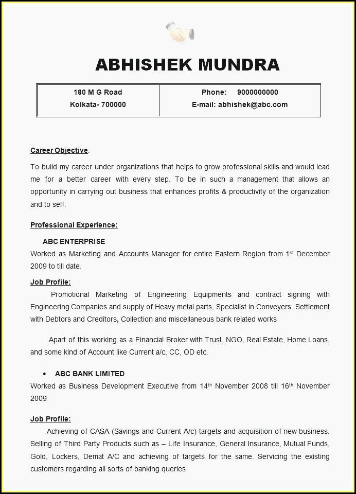 Executive Resume Formats 2018