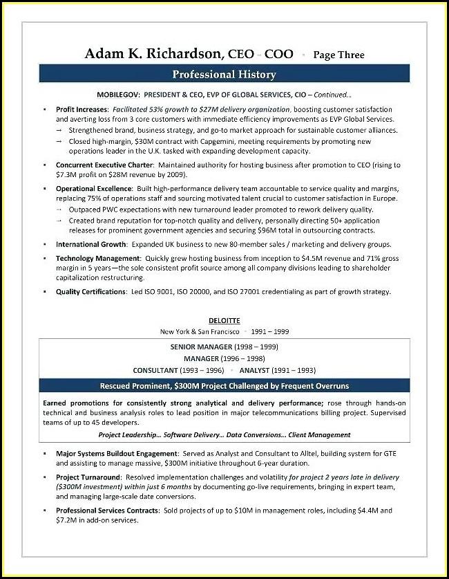 Executive Resume Services Atlanta
