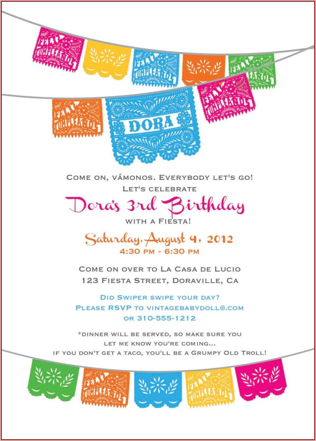 Fiesta Invitations Templates Free