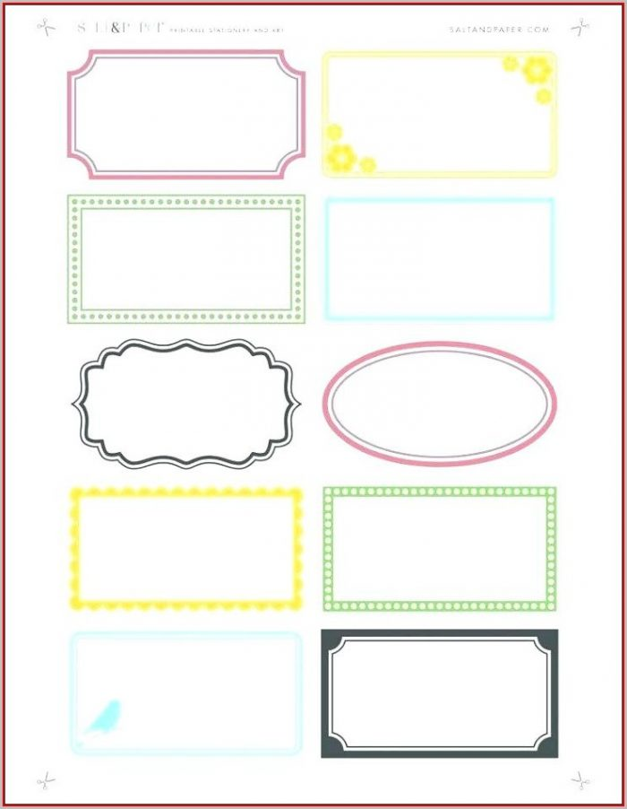 File Cabinet Label Template Free