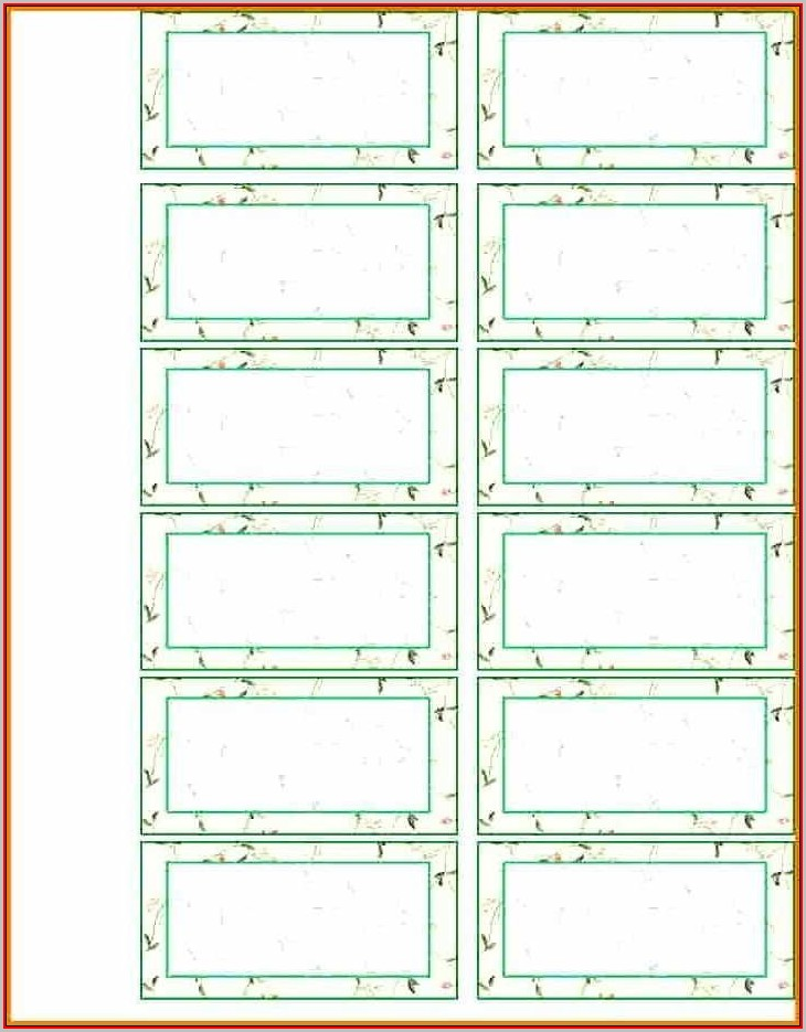 File Cabinet Label Template Word