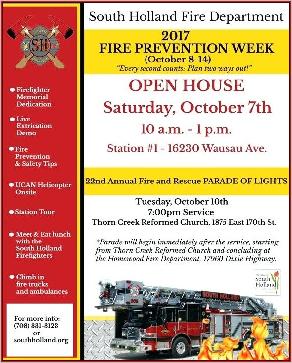 Fire Department Open House Flyer Template