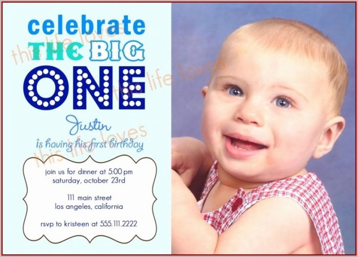 First Birthday Invitation Templates Word