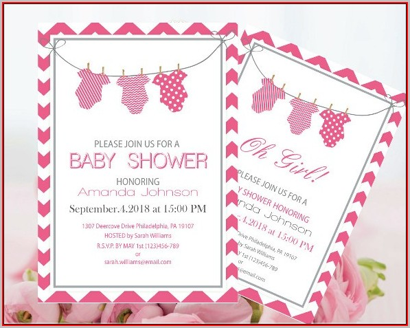 Free Baby Shower Invitations Templates Pdf