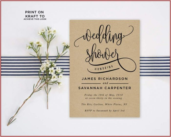 Free Bridal Shower Invitation Templates Photoshop