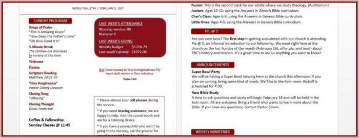 Free Children's Church Bulletin Templates