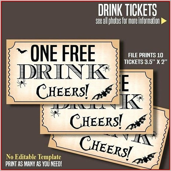 Free Customizable Drink Ticket Template