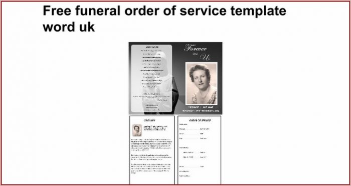 Free Funeral Order Of Service Template Word Uk