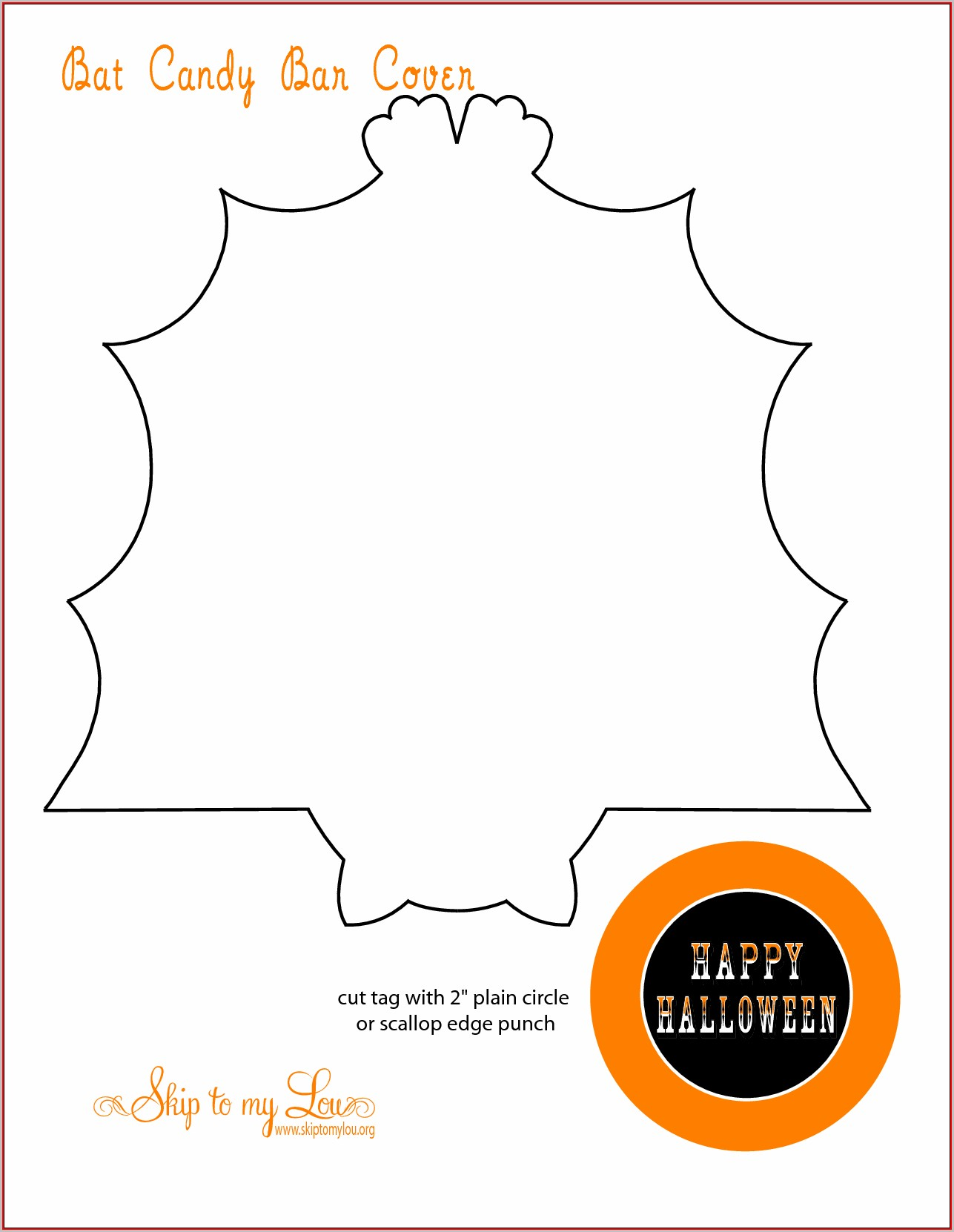 Free Halloween Candy Bar Wrapper Template