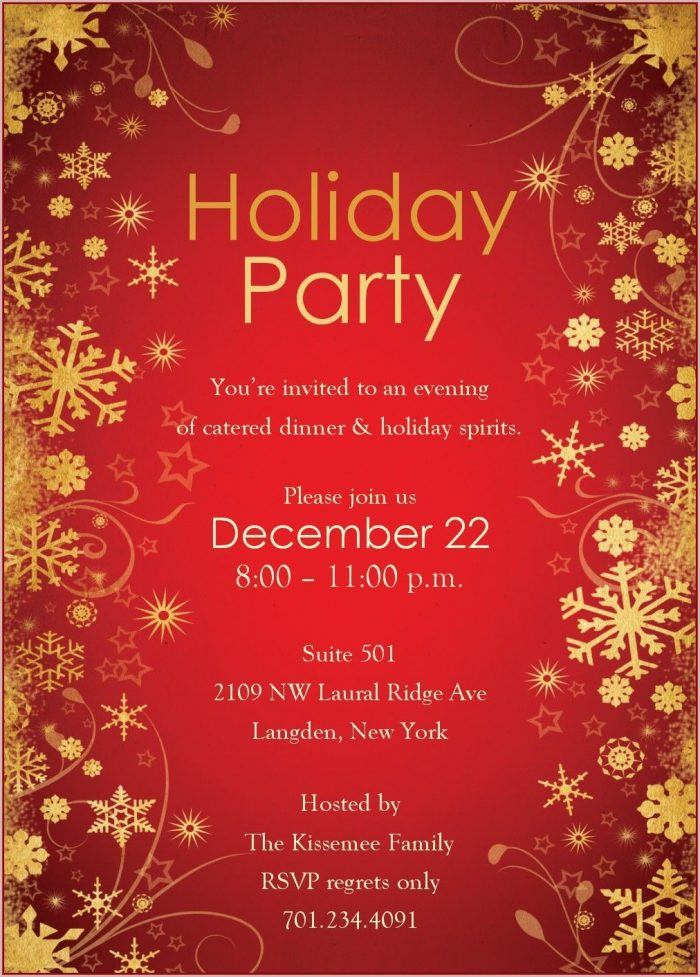 Free Holiday Invitation Templates