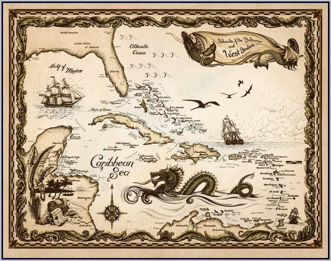Old World Nautical Maps