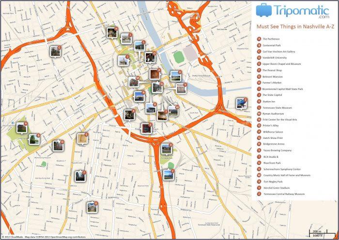 Printable Map Of Nashville