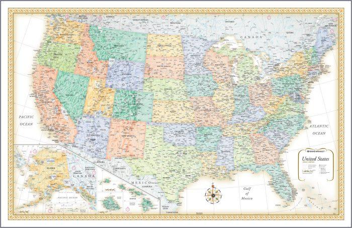 Rand Mcnally Road Map Usa