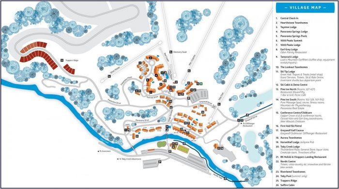 Snowshoe Mountain Lodging Map