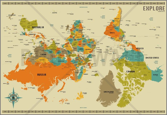 New Zealand World Map Upside Down Map Resume Examples Al167zxkx7