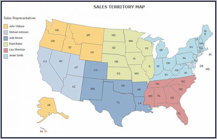 Us Sales Territory Map Free