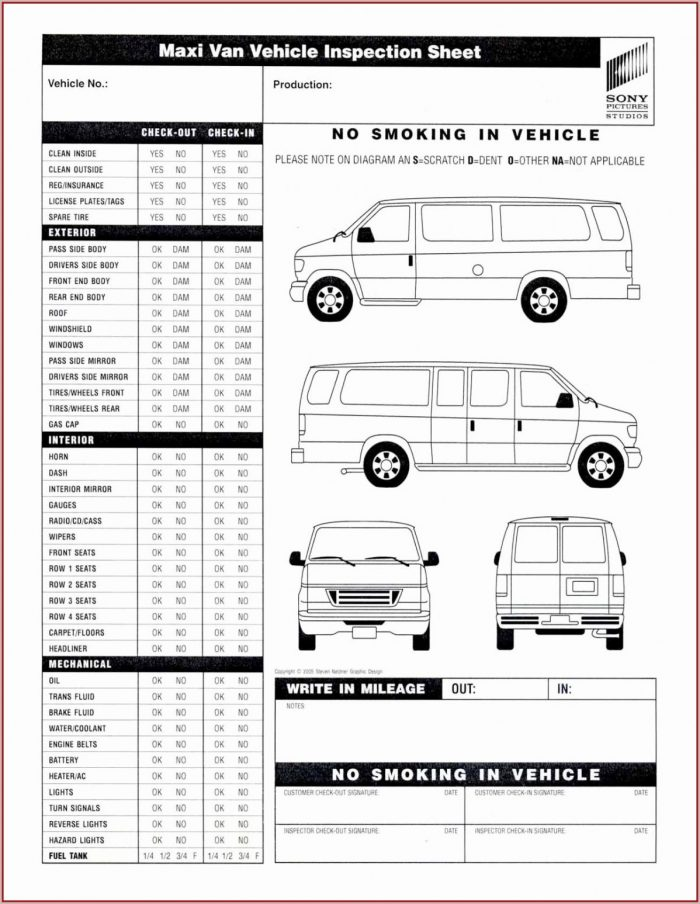 vehicle inspection forms free template 1 resume examples xe8jwzg1oo