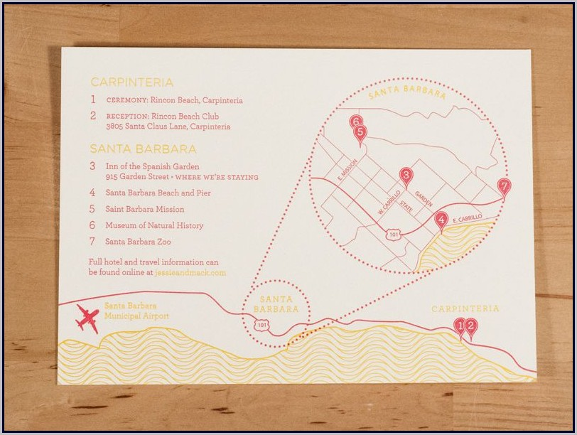 Wedding Invitation Map Design