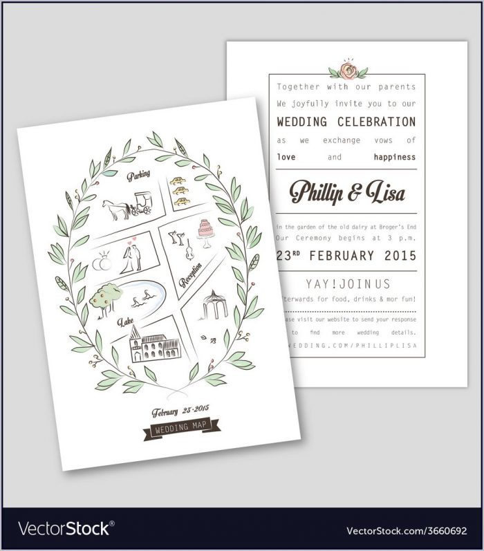 Wedding Invitation Map Template