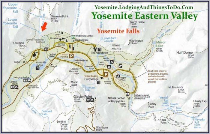 Yosemite Valley Lodging Map