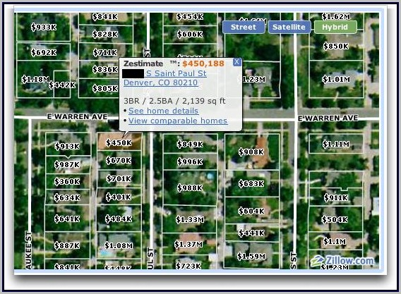 Zillow Value Map Zillow Home Value Estimate Map   Map : Resume Examples #GxKk6WV17A