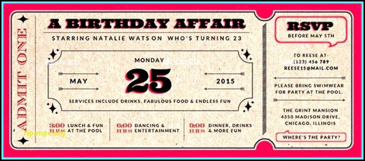 21st Birthday Invites Templates