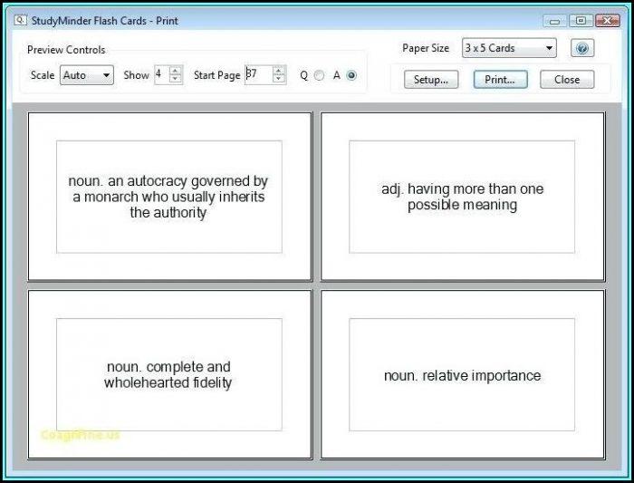 3x5 Card Template Google Docs