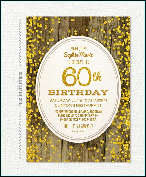 60th Birthday Invitation Layout