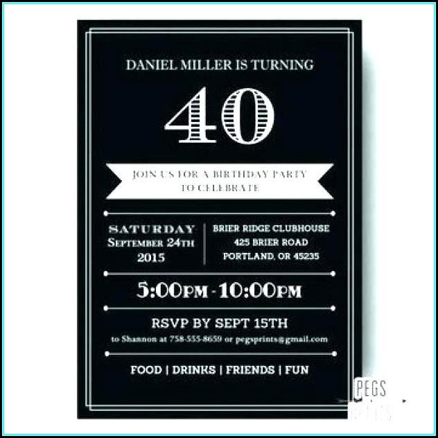 60th Birthday Invitation Template Male