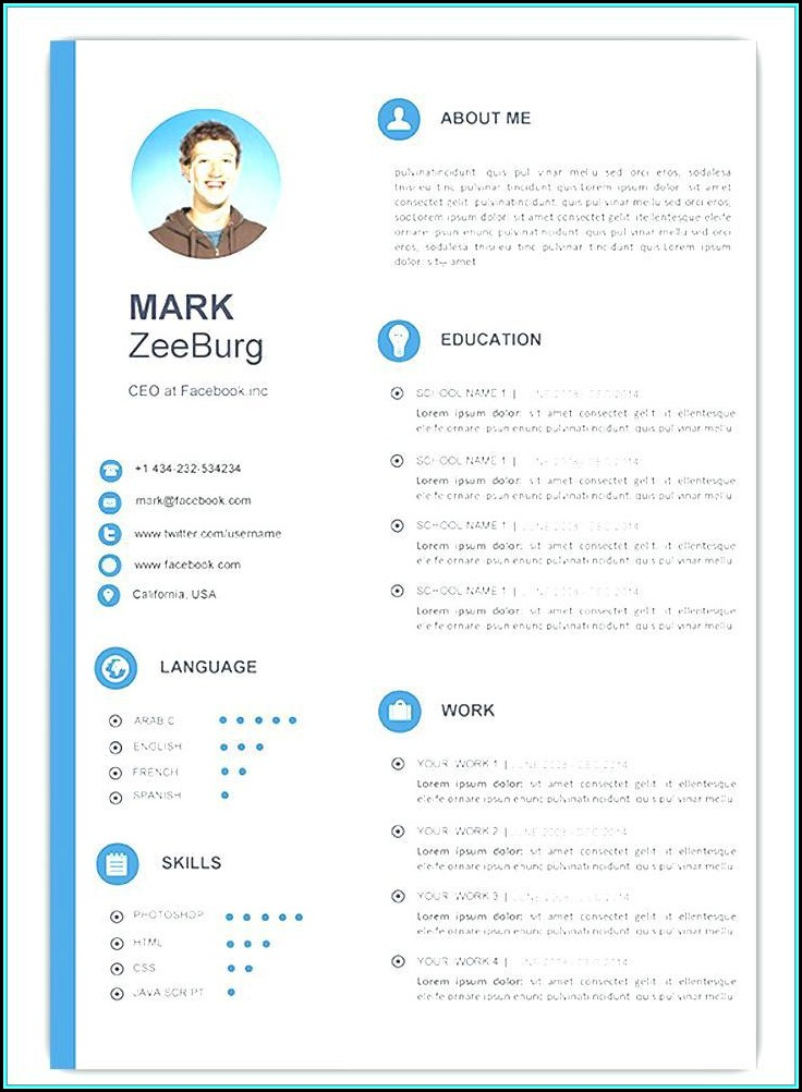 Attractive Resume Templates Free Download Doc Template 1 Resume