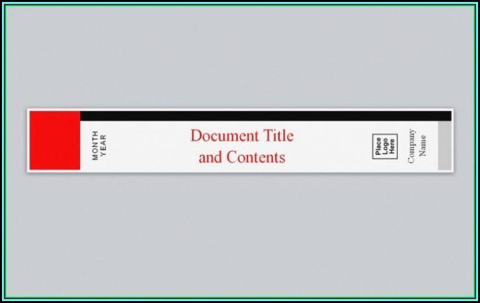 template for binder spine