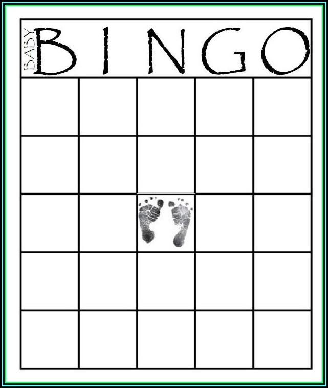Baby Shower Bingo Template Free