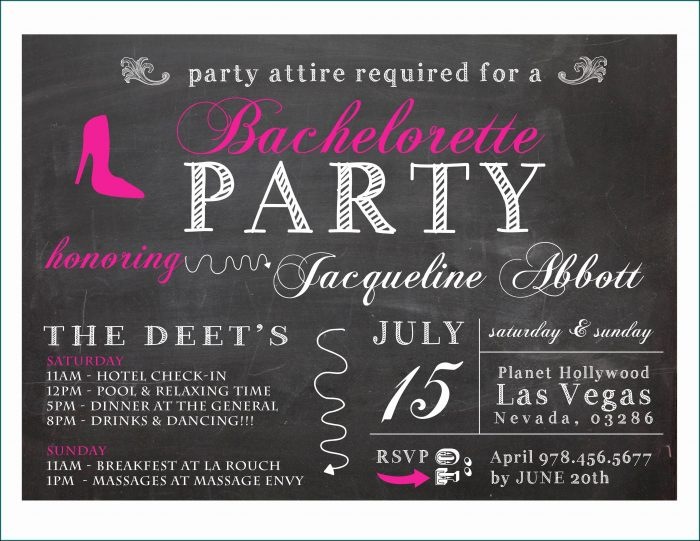 Bachelorette Party Invitation Templates Free Microsoft