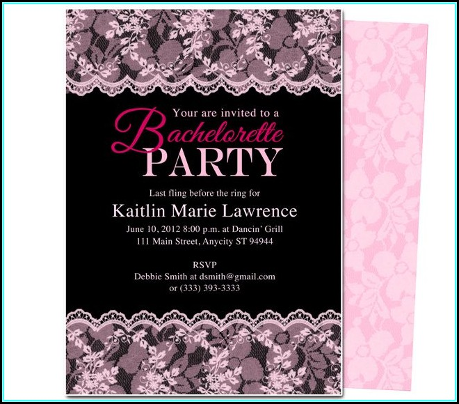 Bachelorette Party Invitation Templates Free