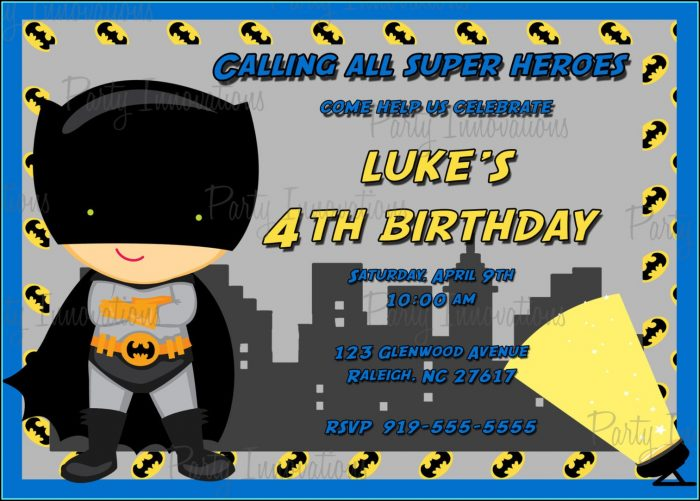 Batman Invitation Templates Free Download