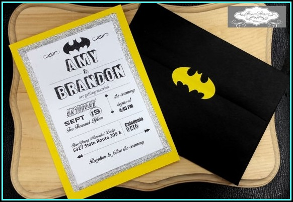 Batman Wedding Invitation Templates