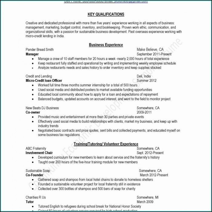 Beautiful Resume Templates Free Word
